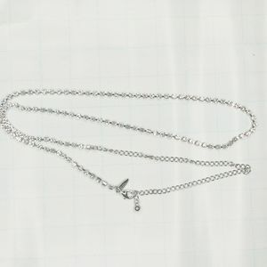 New York & Co Long Silver Rhinestone Necklace